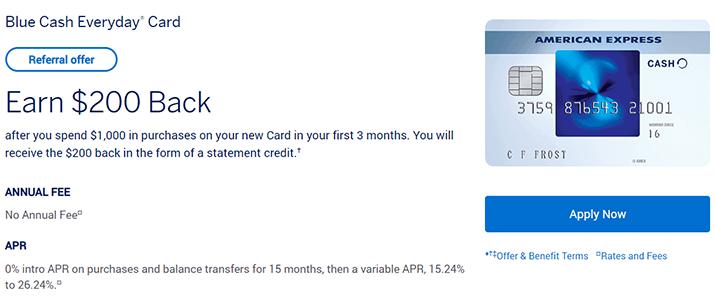 我的第二张美国信用卡申请攻略:AMEX Blue Cash Everyday信用卡,开卡奖励200美金,3%返现